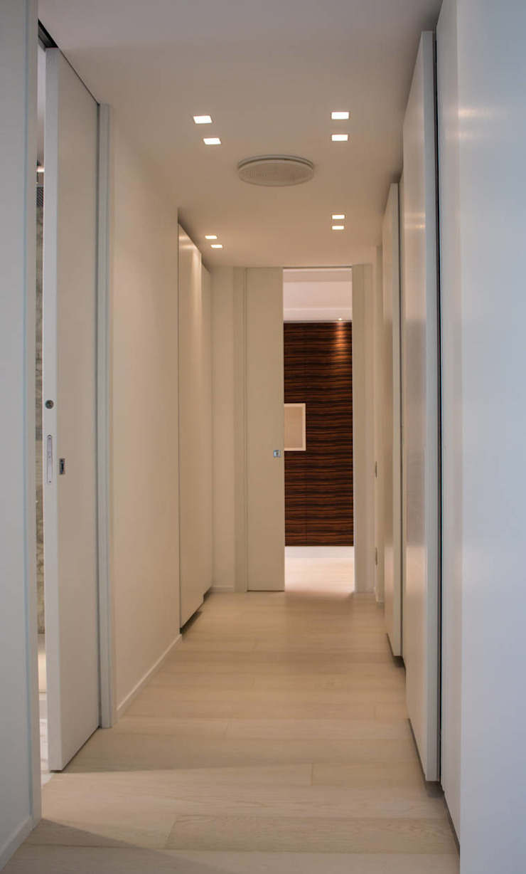 Scrigno for the Parchitello Alta complex harmonious shapes and lines for an eco-sustainable and people-friendly result Scrigno S.p.A. Unipersonale Sliding doors
