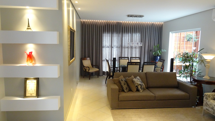 Ambiento Arquitetura Modern living room Concrete Grey