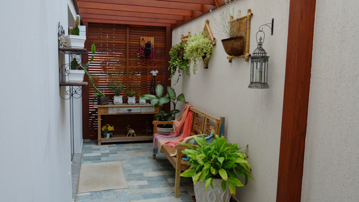 Rustic style conservatory by Ambiento Arquitetura Rustic Wood Wood effect