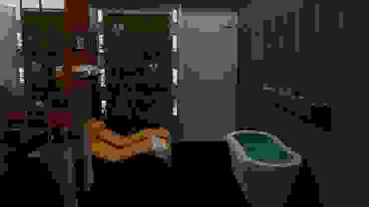 Jardim de Inverno Modern Bathroom by STUDIO SPECIALE - ARQUITETURA & INTERIORES Modern Wood Wood effect
