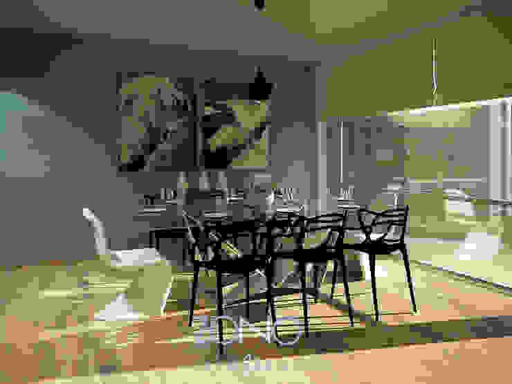 Diseño de área de comedor Comedores modernos de Zono Interieur Moderno