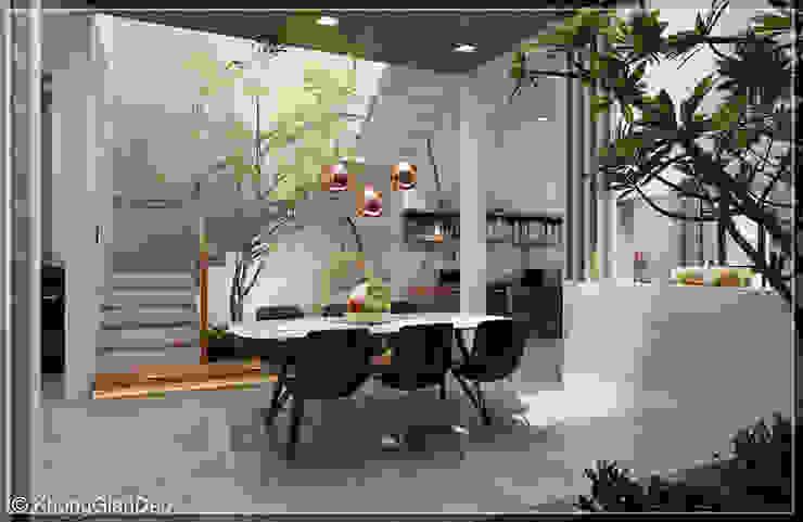 Dining room by Công ty cổ phần đầu tư xây dựng Không Gian Đẹp , Modern