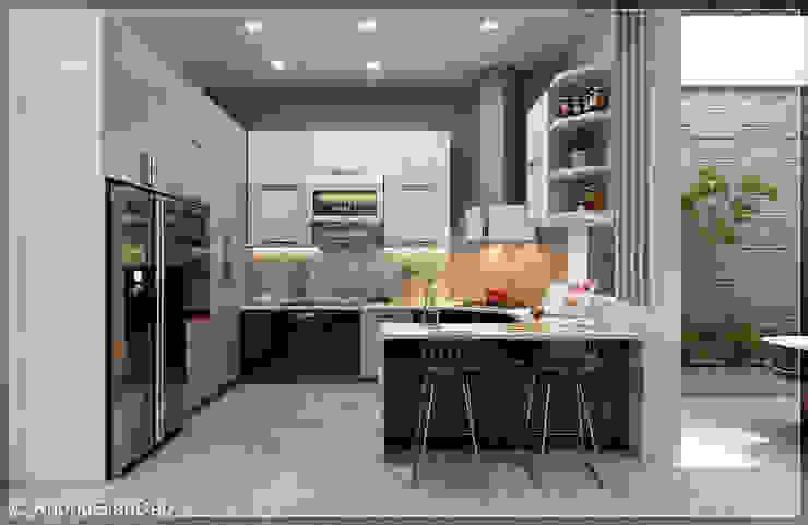 Modern kitchen by Công ty cổ phần đầu tư xây dựng Không Gian Đẹp Modern