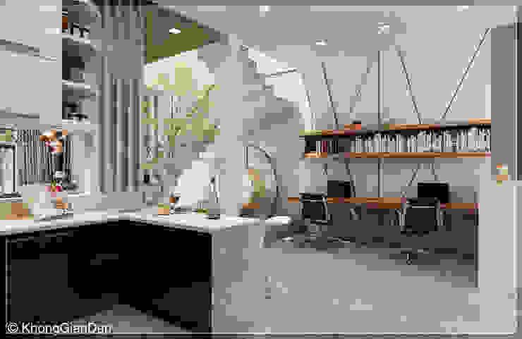 Phòng bếp Phòng học/văn phòng phong cách hiện đại bởi Công ty cổ phần đầu tư xây dựng Không Gian Đẹp Hiện đại