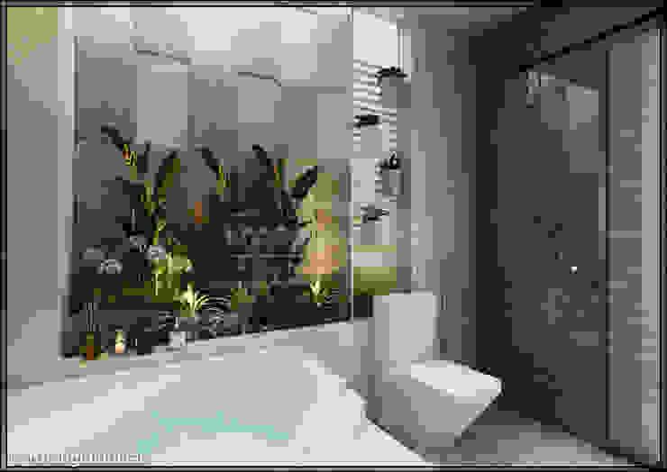 Baños de estilo moderno de Công ty cổ phần đầu tư xây dựng Không Gian Đẹp Moderno