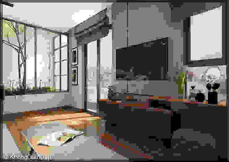 Phòng ngủ Master Phòng ngủ phong cách hiện đại bởi Công ty cổ phần đầu tư xây dựng Không Gian Đẹp Hiện đại