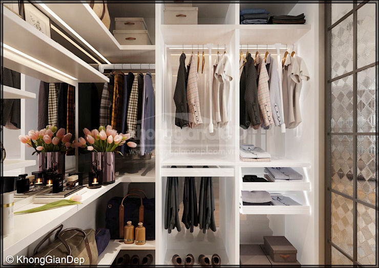 Chambre de style  par Công ty cổ phần đầu tư xây dựng Không Gian Đẹp ,