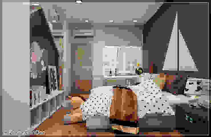 Phòng ngủ bé trai Phòng ngủ phong cách hiện đại bởi Công ty cổ phần đầu tư xây dựng Không Gian Đẹp Hiện đại