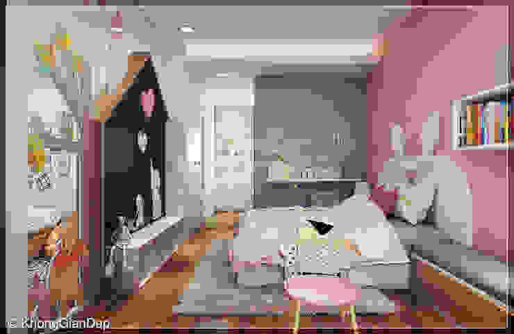 Phòng ngủ bé gái Phòng ngủ phong cách hiện đại bởi Công ty cổ phần đầu tư xây dựng Không Gian Đẹp Hiện đại