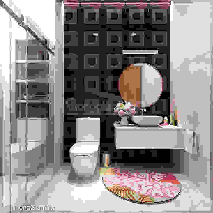 WC Phòng tắm phong cách hiện đại bởi Công ty cổ phần đầu tư xây dựng Không Gian Đẹp Hiện đại