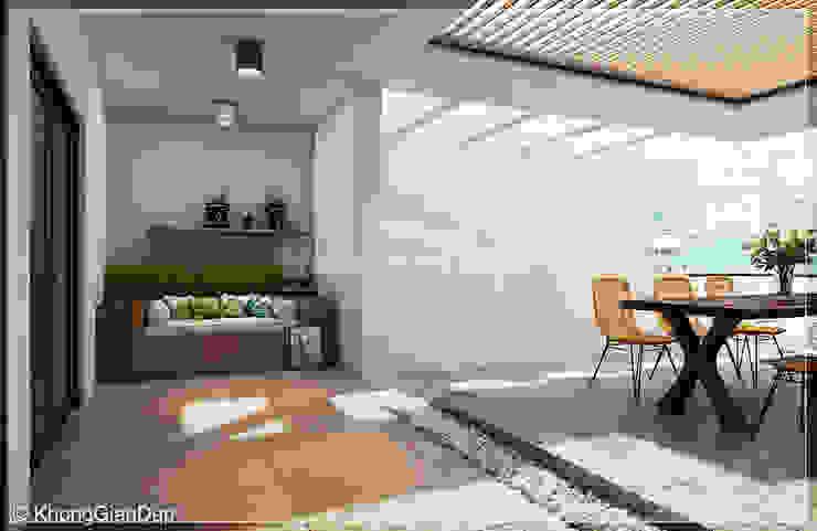 Balcones y terrazas de estilo moderno de Công ty cổ phần đầu tư xây dựng Không Gian Đẹp Moderno
