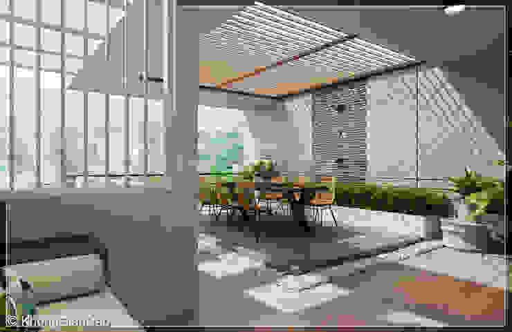 Sân thượng Hiên, sân thượng phong cách hiện đại bởi Công ty cổ phần đầu tư xây dựng Không Gian Đẹp Hiện đại