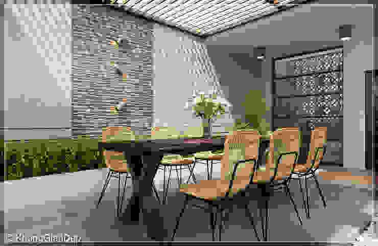 Balkon, Beranda & Teras Modern Oleh Công ty cổ phần đầu tư xây dựng Không Gian Đẹp Modern