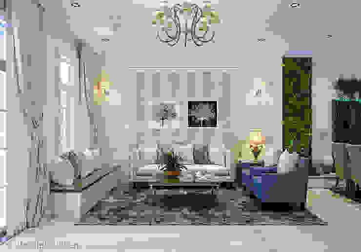 Scandinavian style living room by Công ty cổ phần đầu tư xây dựng Không Gian Đẹp Scandinavian