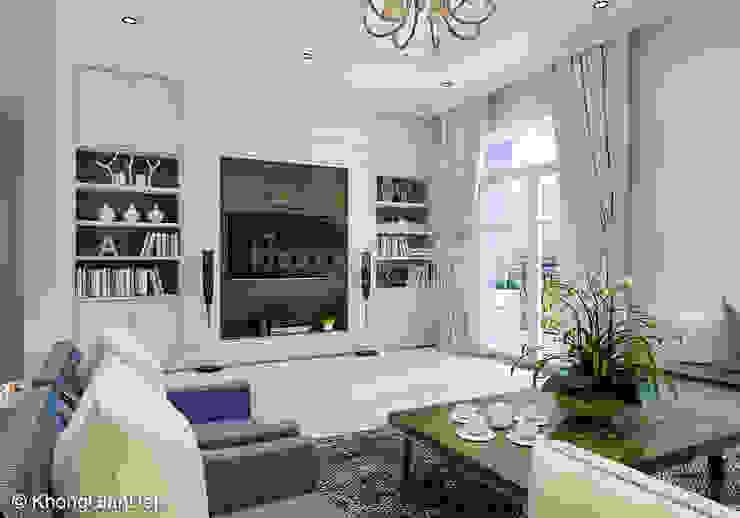 Salas / recibidores de estilo  por Công ty cổ phần đầu tư xây dựng Không Gian Đẹp ,