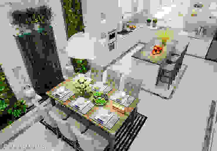 Scandinavian style dining room by Công ty cổ phần đầu tư xây dựng Không Gian Đẹp Scandinavian