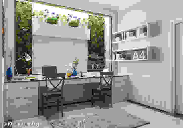 Classic style study/office by Công ty cổ phần đầu tư xây dựng Không Gian Đẹp Classic