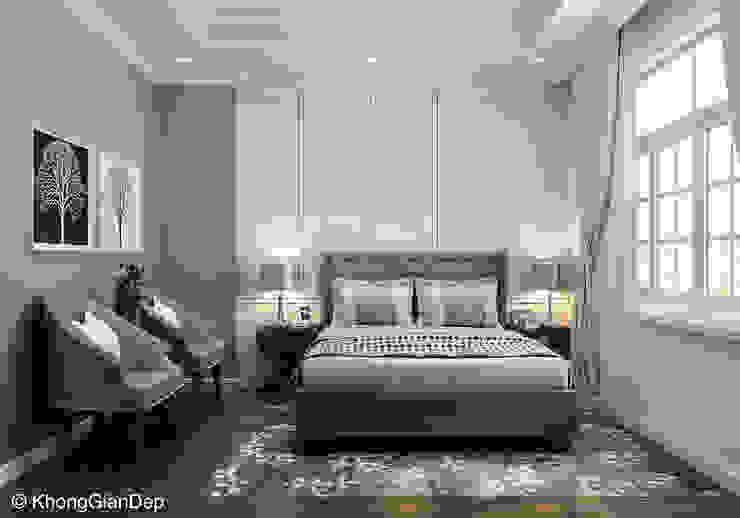 Phòng ngủ Phòng ngủ phong cách Bắc Âu bởi Công ty cổ phần đầu tư xây dựng Không Gian Đẹp Bắc Âu