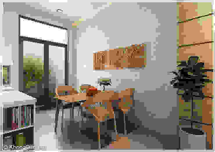 Rustic style dining room by Công ty cổ phần đầu tư xây dựng Không Gian Đẹp Rustic