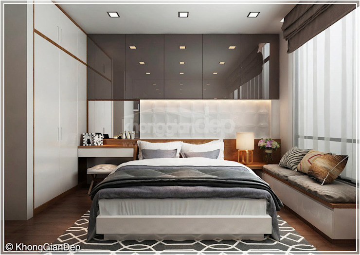 Bedroom by Công ty cổ phần đầu tư xây dựng Không Gian Đẹp , Classic
