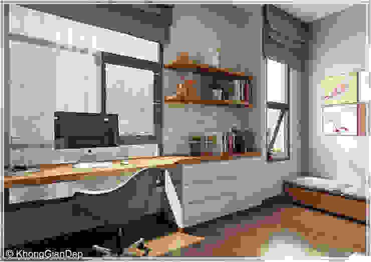 Modern study/office by Công ty cổ phần đầu tư xây dựng Không Gian Đẹp Modern