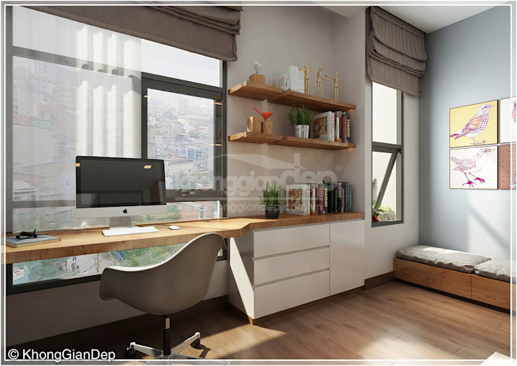 Estudios y oficinas de estilo  por Công ty cổ phần đầu tư xây dựng Không Gian Đẹp