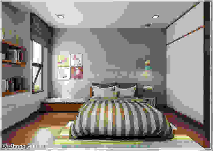 Phòng ngủ Phòng ngủ phong cách hiện đại bởi Công ty cổ phần đầu tư xây dựng Không Gian Đẹp Hiện đại