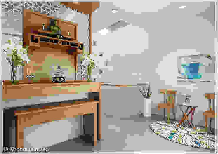 Pasillos y vestíbulos de estilo  por Công ty cổ phần đầu tư xây dựng Không Gian Đẹp ,