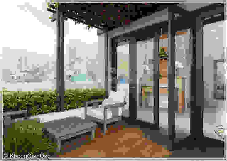 Công ty cổ phần đầu tư xây dựng Không Gian Đẹp Balkon, Beranda & Teras Modern White