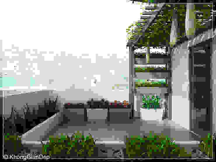 Công ty cổ phần đầu tư xây dựng Không Gian Đẹp Balkon, Beranda & Teras Modern Green