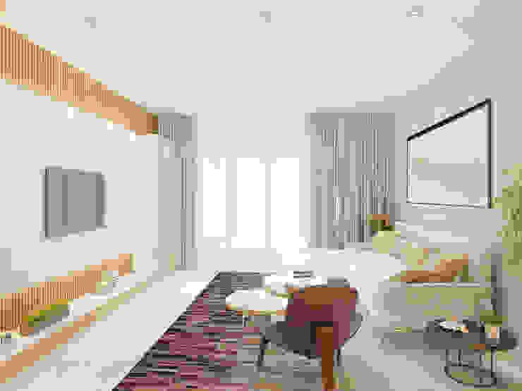 Living room by Công ty trách nhiệm hữu hạn ANP, Modern