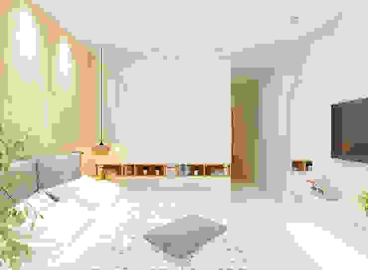 Căn hộ Mulberry Lane Phòng ngủ phong cách hiện đại bởi Công ty trách nhiệm hữu hạn ANP Hiện đại