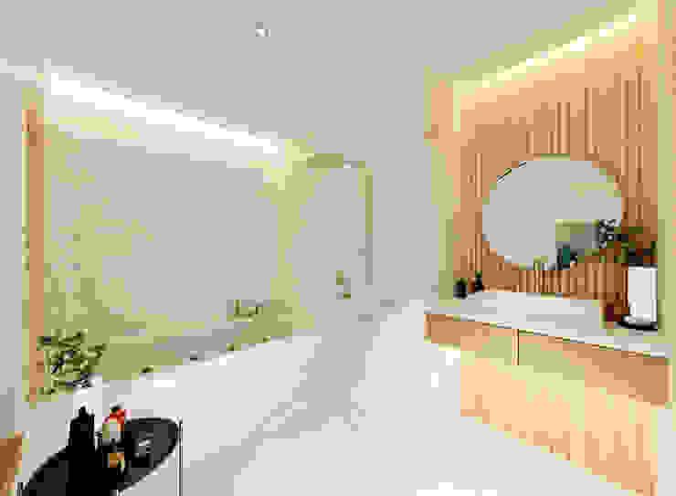 Baños de estilo  por Công ty trách nhiệm hữu hạn ANP, Moderno