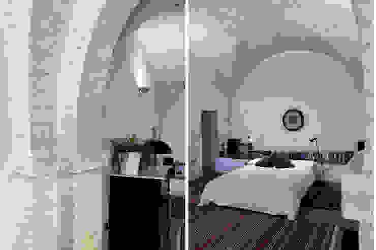 Architetto Luigia Pace Спальня Цегла Білий