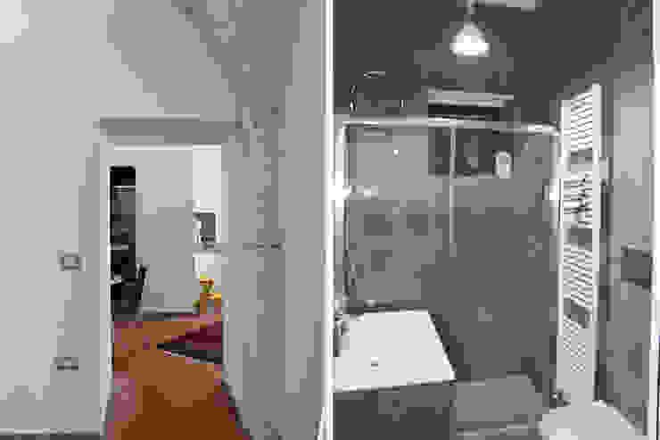 Architetto Luigia Pace Ванна кімната Плитки Сірий