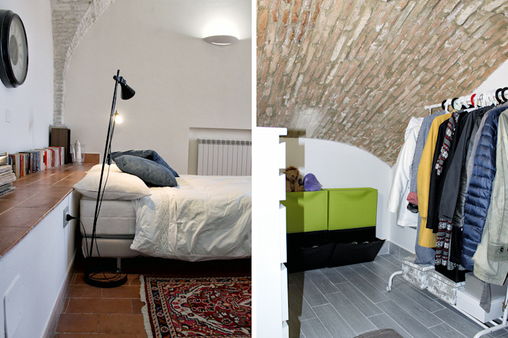Modern style bedroom by Architetto Luigia Pace Modern Bricks