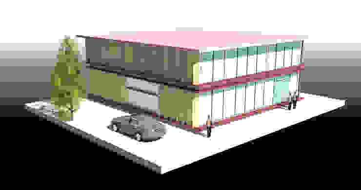 สำนักงาน 2 ชั้น -คลองขุด บางพลีใหญ่ โดย บริษัท โอเบ เอ็นจิเนียริ่ง จำกัด โมเดิร์น