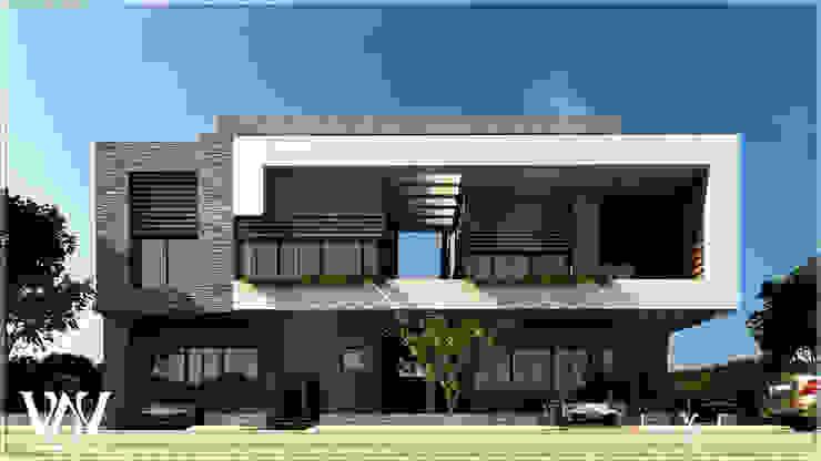 Villa exterior with Light modern style: modern  by VAVarchitecture, Modern