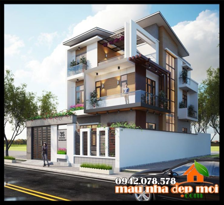 Kiến trúc toát lên được sự thanh thoát, sống động trên từng đường nét bởi Công ty TNHH TKXD Nhà Đẹp Mới Châu Á
