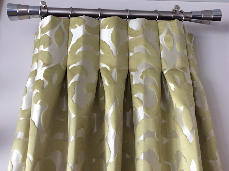 Drapery Headings : modern  by INNER HAVEN DECORATING,Modern Textile Amber/Gold
