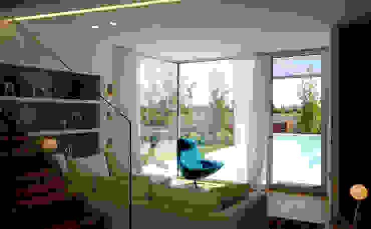 Ruang Keluarga Modern Oleh Studio di Architettura e Ingegneria Santi Modern