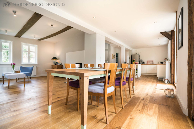 Country style dining room by Hardenberg Design GmbH Country Wood Wood effect