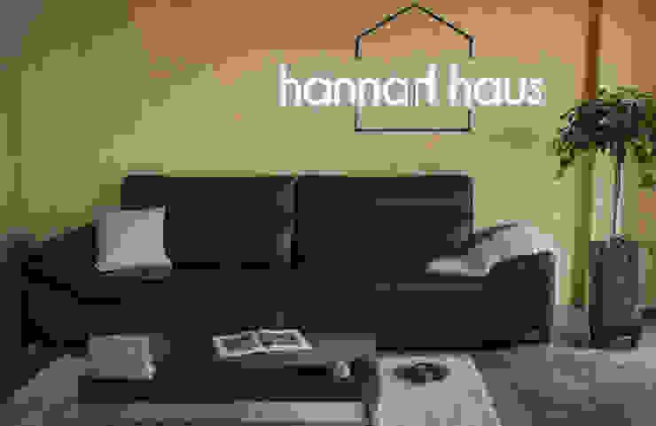 모던 인테리어 - Lehma(레마) 가죽 소파: 한나하우스의 현대 ,모던 가죽 그레이