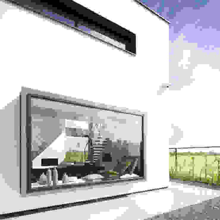 erkerkozijn van Archstudio Architecten | Villa's en interieur Minimalistisch