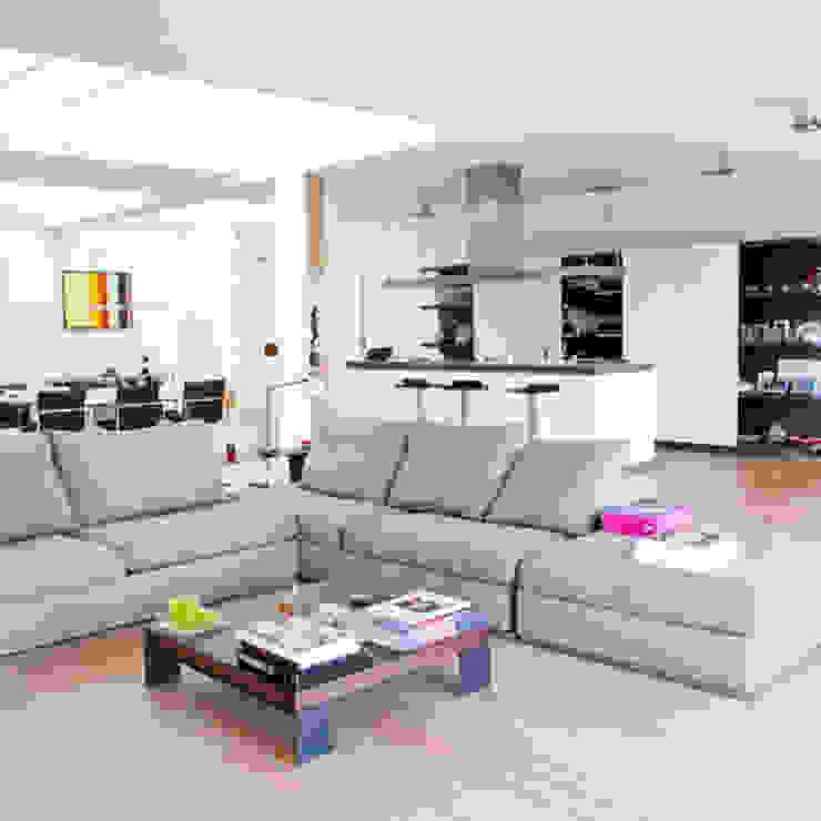 woonkamer Archstudio Architecten | Villa's en interieur Minimalistische woonkamers