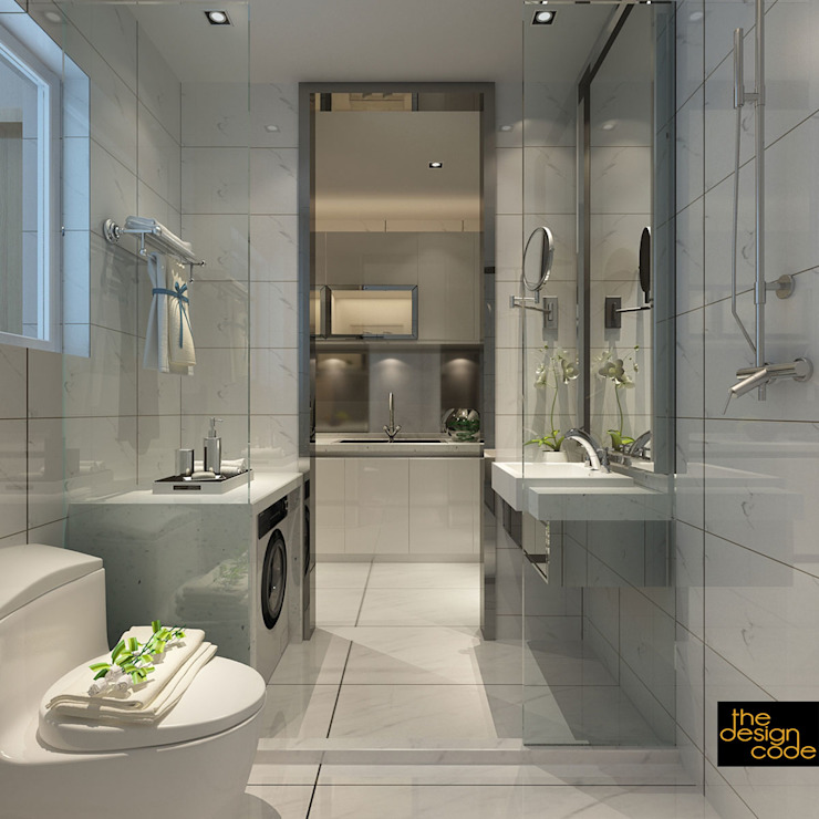 Banheiros clássicos por homify Clássico Pedra