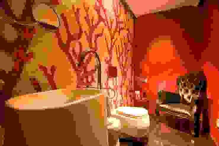 Banheiros minimalistas por Complementos C.A. Minimalista Azulejo