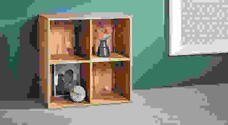 CLIC 2x2 Shelf Cube Moderne Wohnzimmer von Regalraum UK Modern