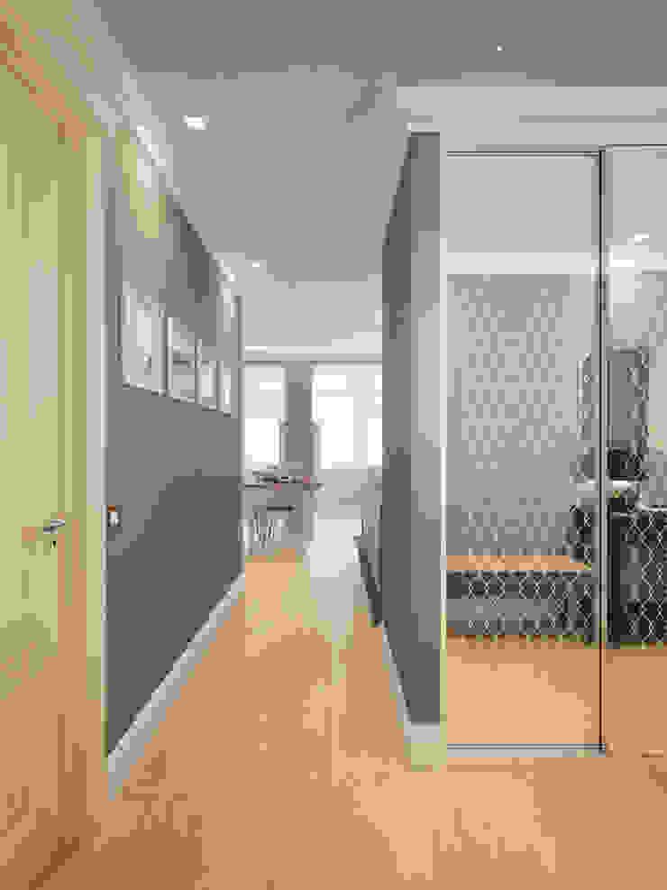 Small traditional apartment 클래식스타일 복도, 현관 & 계단 by EVGENY BELYAEV DESIGN 클래식