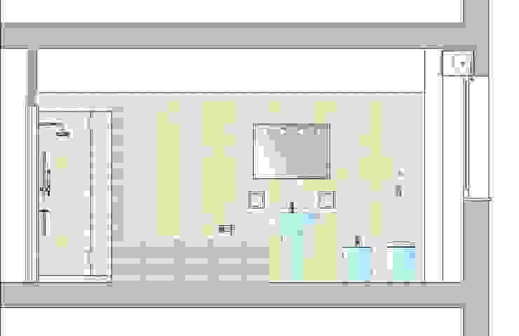 Architetto Alberto Colella Modern Bathroom Turquoise